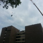 Crane Getting Ready to Move Unit
