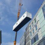 Crane Hoisting Container