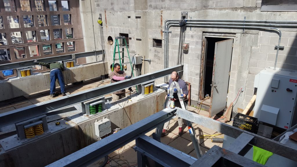 Crew Prepping for Cooling Tower Placement