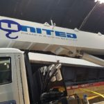 United Logo on Crane