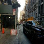 Crane Lowered in Street