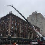 Crane at Corner Of Building