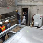 Crew Placing Cooling Tower