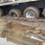 Crane Tires in Mud