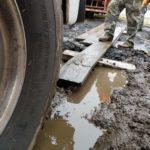 Crane in Mud