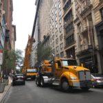 Crane set up NY