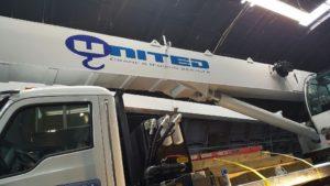 United Logo on Crane