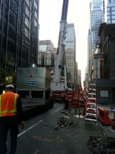 Crane Set Up in the Street