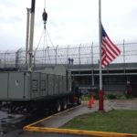 Hoisting AC Unit at Rikers Island