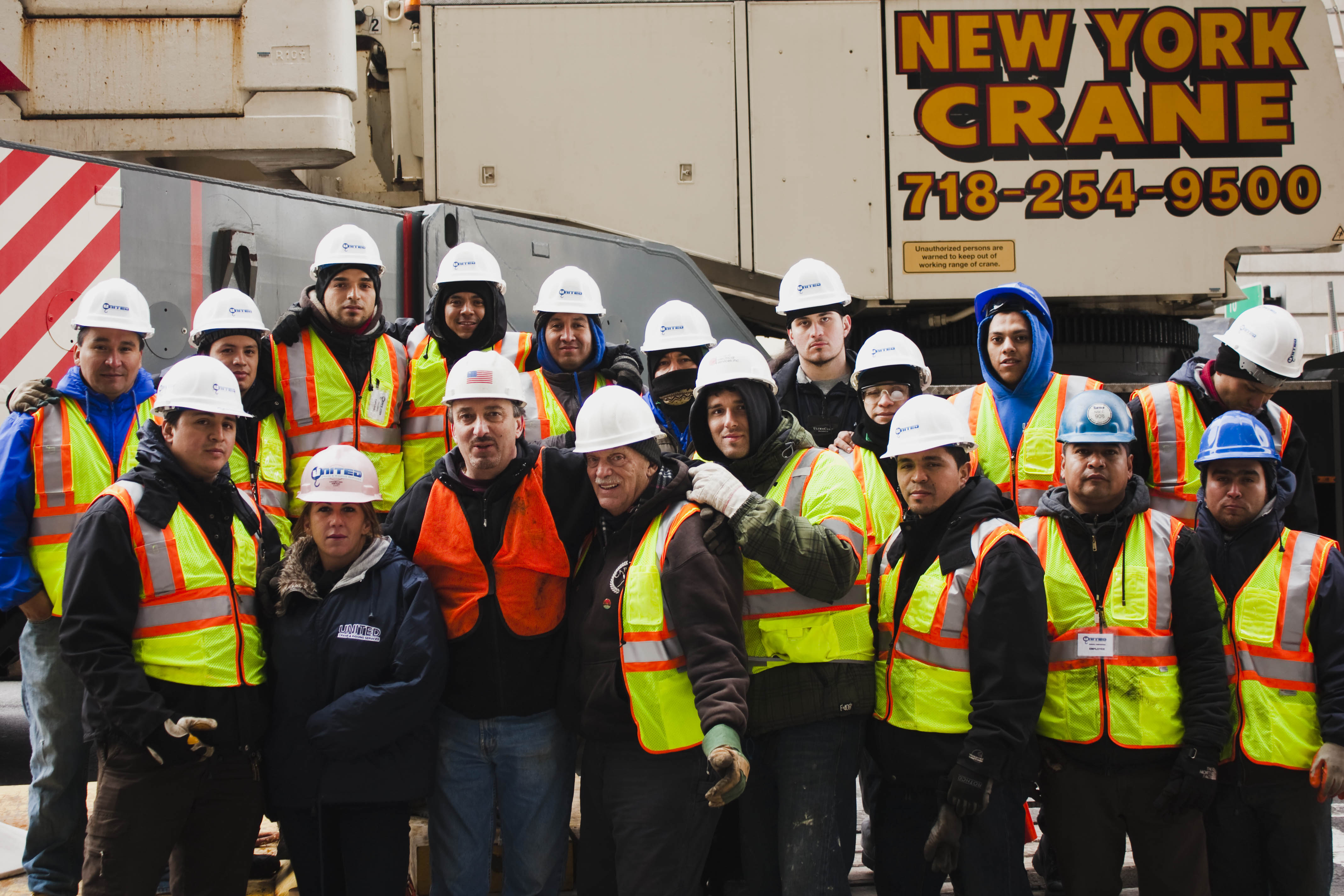 United Rigging Crew on Chambers Street