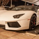 Lifting White Lamborghini