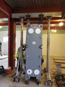 Placing Heat Exchanger Into Place