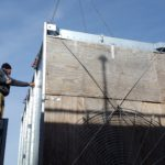 Guiding Cooling Tower Into Place