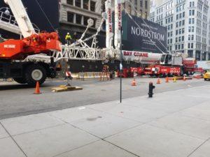 Crane Set Up in NY