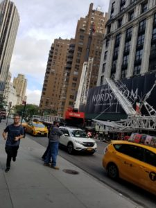 Crane on NYC Street