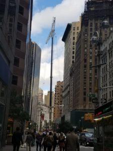 Crane Between Buildings